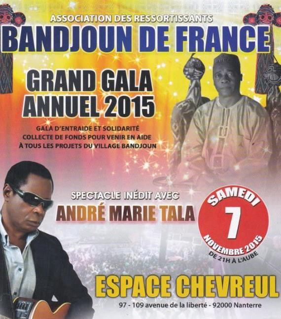 Soirée de Gala des Bandjoun de France 2015, avec André Marie TALA