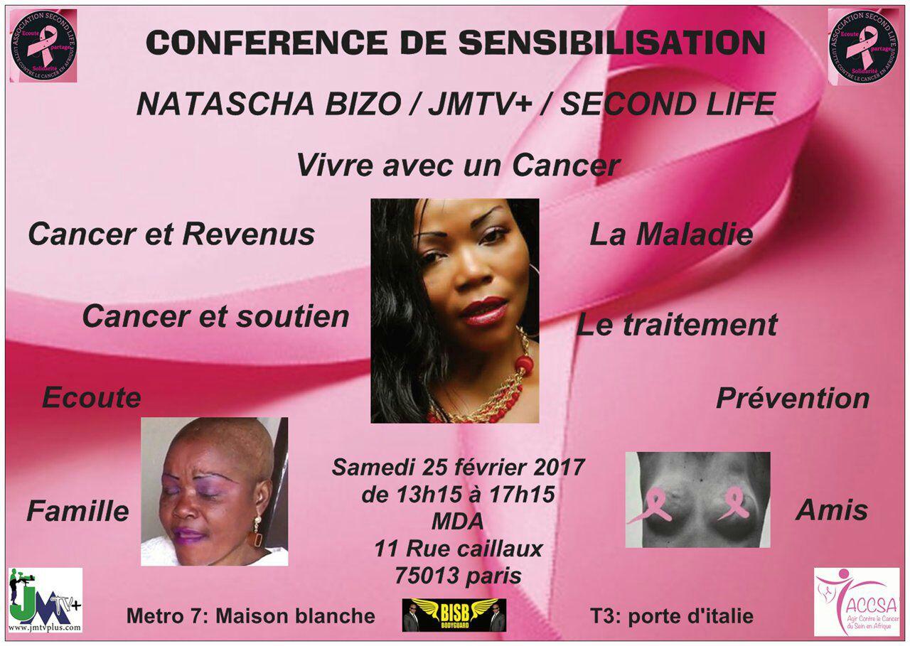 CANCER: NATASCHA BIZO MISE EN LUMIÈRE PAR L'ASSOCIATION «SECOND LIFE»
