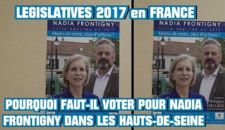 LÉGISLATIVES 2017: POURQUOI VOTER pour NADIA FRONTIGNY dans le 92