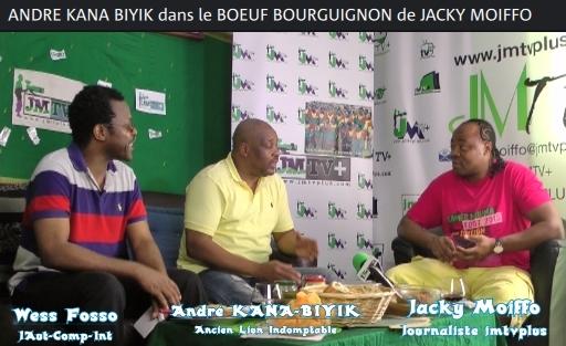 ANDRÉ KANA-BIYIK dans «le BŒUF BOURGUIGNON de JACKY MOIFFO»,2ème Partie (JMTV+)