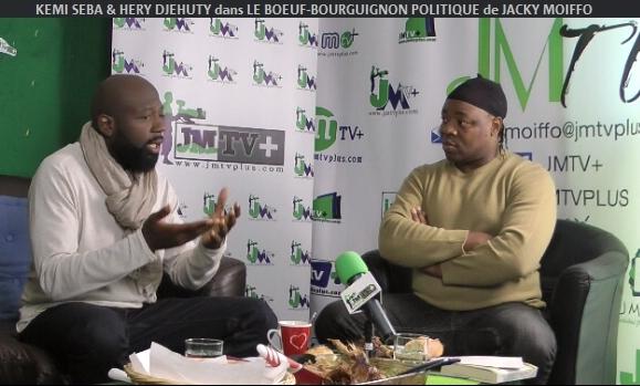 KEMI SEBA & HERY DJEHUTY dans «LE BŒUF-BOURGUIGNON POLITIQUE de JACKY MOIFFO» Partie 1 (JMTV+)