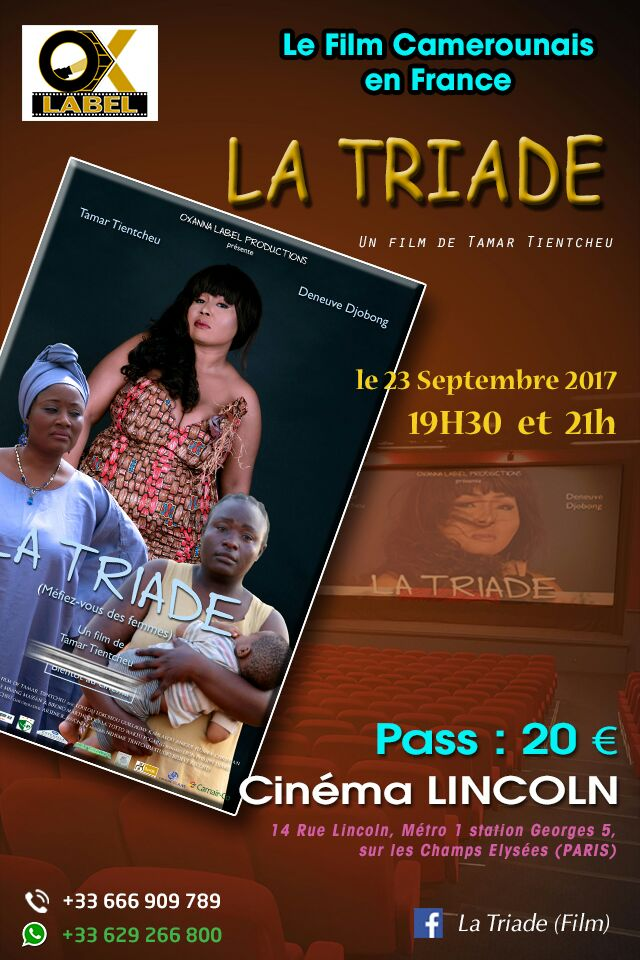 CAMEROUN/CINÉMA: CONFÉRENCE de PRESSE de TAMAR TIENTCHEU pour la sortie de «»LA TRIADE»,son FILM(JMTV+)