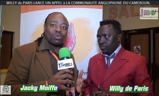 CRISE POLITIQUE au CAMEROUN: WILLY de PARIS LANCE UN APPEL aux AUTORITÉS & à LA COMMUNAUTÉ ANGLOPHONE (JMTV+)