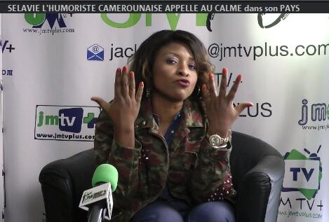 SELAVIE: L'HUMORISTE CAMEROUNAISE APPELLE AU CALME dans son PAYS (JMTV+)