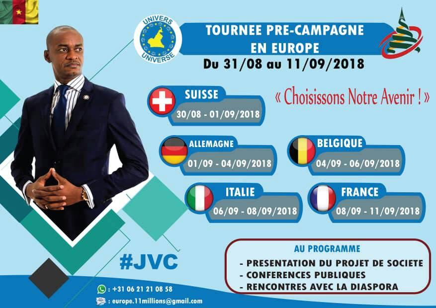 CABRAL LIBII: SA TOURNÉE PRE CAMPAGNE en EUROPE du 31 AOÛT au 11 SEPTEMBRE 2018(JMTV+)