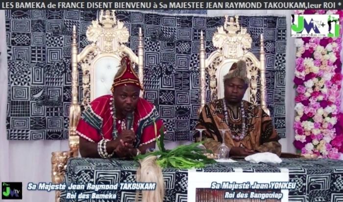 LES BAMEKA de FRANCE DISENT BIENVENU à Sa MAJESTÉ JEAN RAYMOND TAKOUKAM,leur ROI(JMTV+)