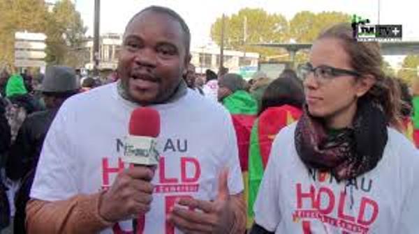 MANIFESTATION DES CAMEROUNAIS à PARIS:»NOUS N'EN POUVONS PLUS»