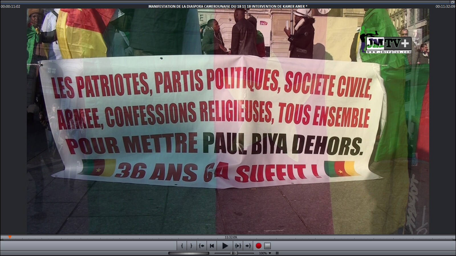 INTERVENTIONS du Gle WANTO & Gervais YOUNKEP à la MANIFESTATION du 18 Nov 2018