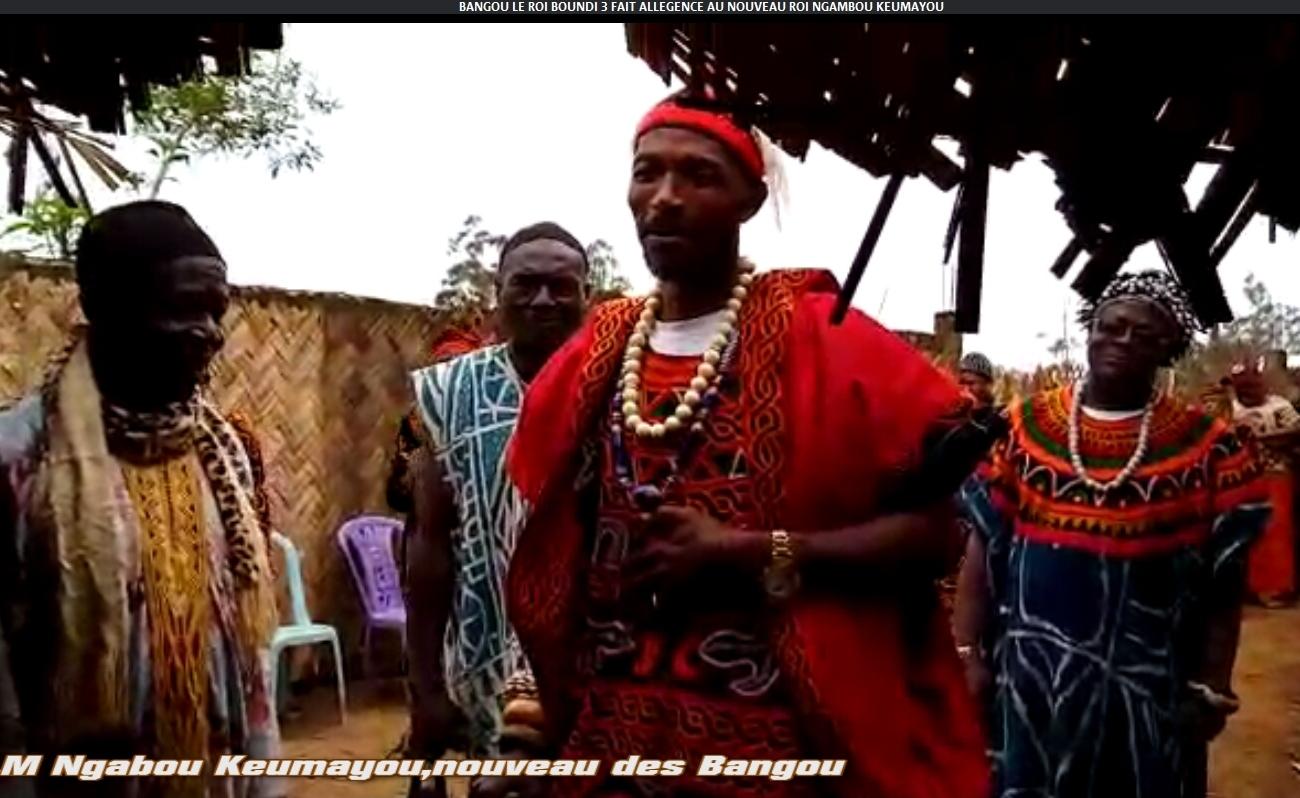 BANGOU: LE ROI BOUNDI 3 FAIT ALLÉGEANCE AU NOUVEAU ROI NGABOU KEMAYOU