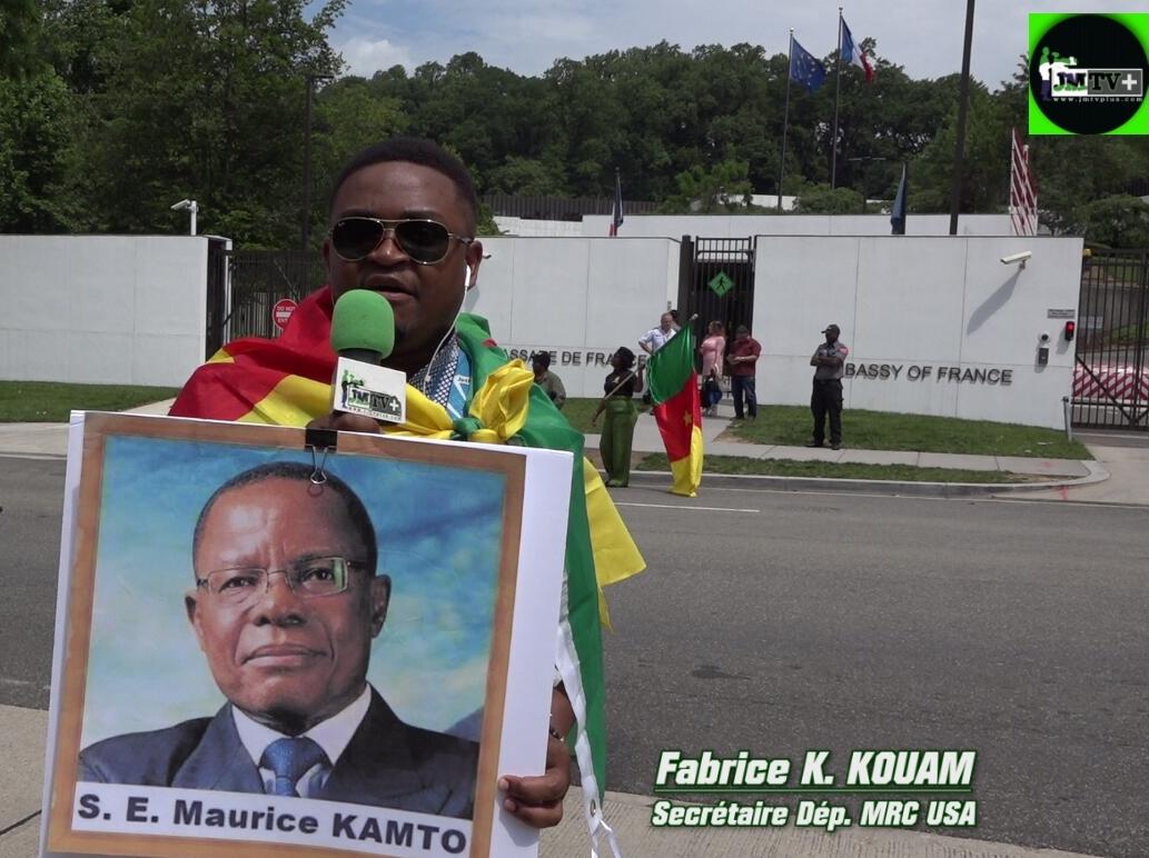 MRC/USA-FABRICE KOUAM: «NOUS DEMANDONS à LA FRANCE de RESPECTER LA VOLONTÉ des CAMEROUNAIS»