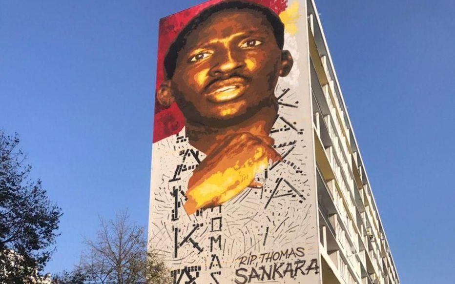 une fresque en hommage à Thomas Sankara