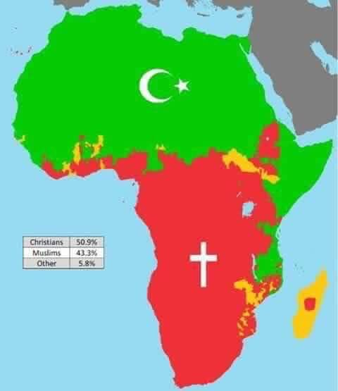 OCCUPATIONS GÉOGRAPHIQUES de l'AFRIQUE & presque totalement réussies.