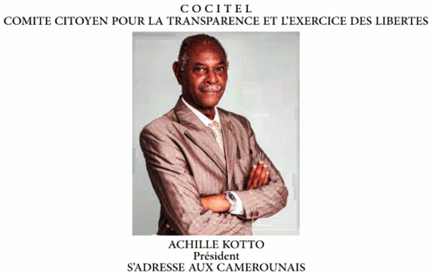 CAMEROUN/Dialogue National: Achille KOTTO du COCITEL s'adresse aux camerounais
