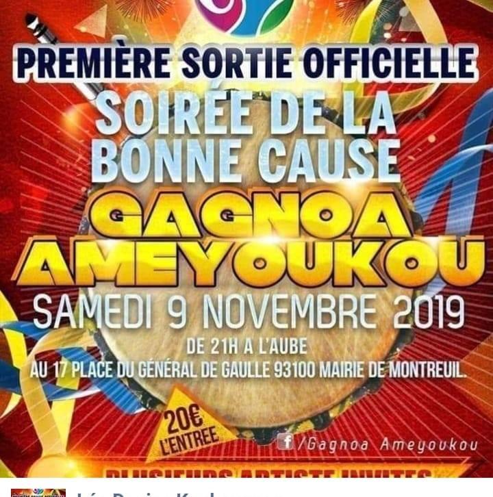 SOIRÉE de GALA GAGNOA AMEYOUKOU PARIS NOV 2019,  Part 1