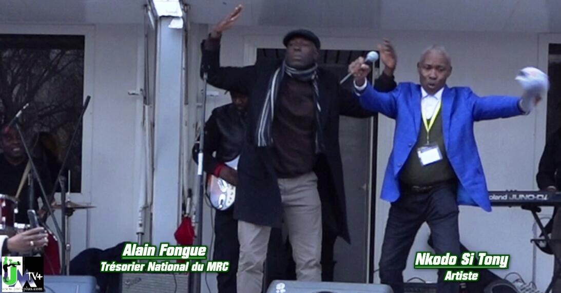 NKODO SI TONY & ALAIN FOGUE ENDIABLENT LE MEETING de MAURICE KAMTO à PARIS