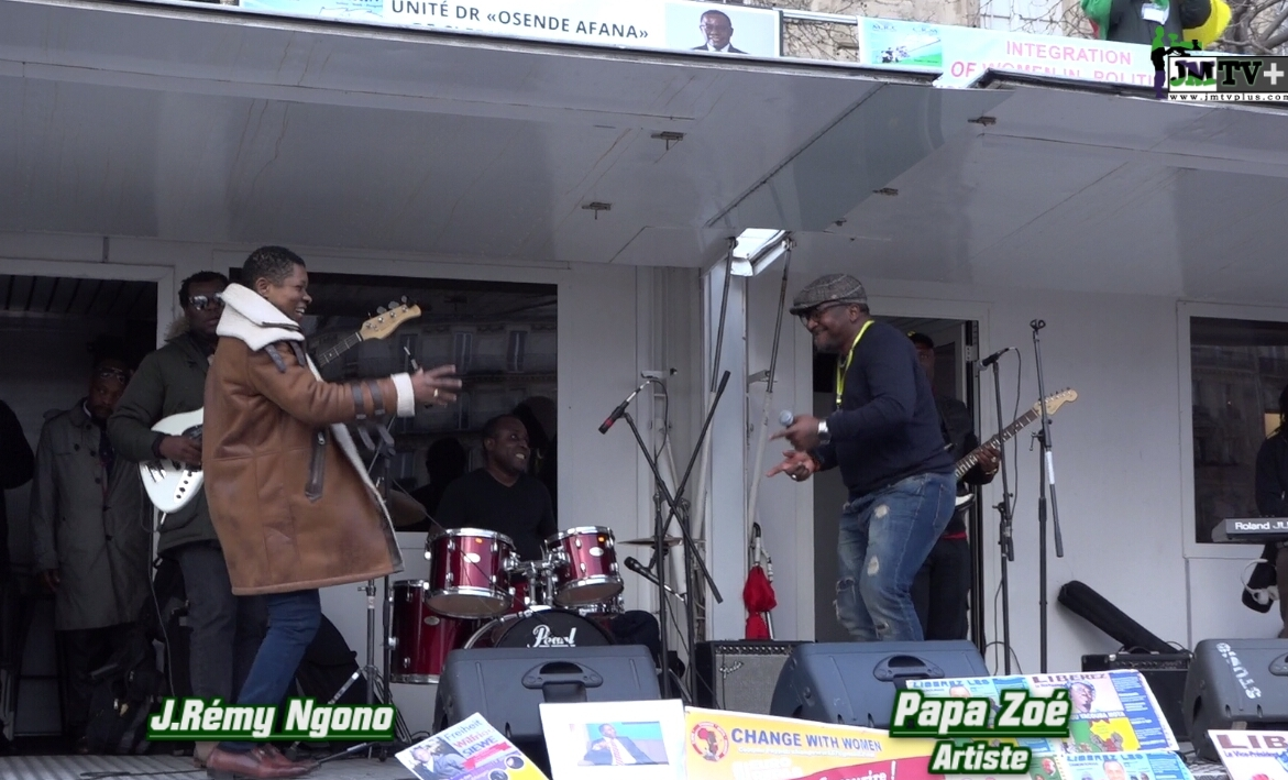 PAPA ZOE & J.REMY NGONO ENFLAMMENT LE MEETING de MAURICE KAMTO à PARIS